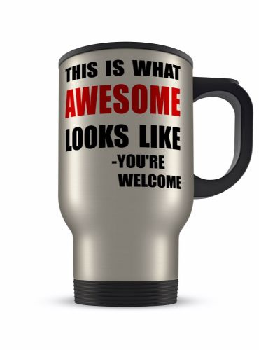 14oz This Is What Awesome Looks Like Funny Novelty Gift Aluminium Travel Mug